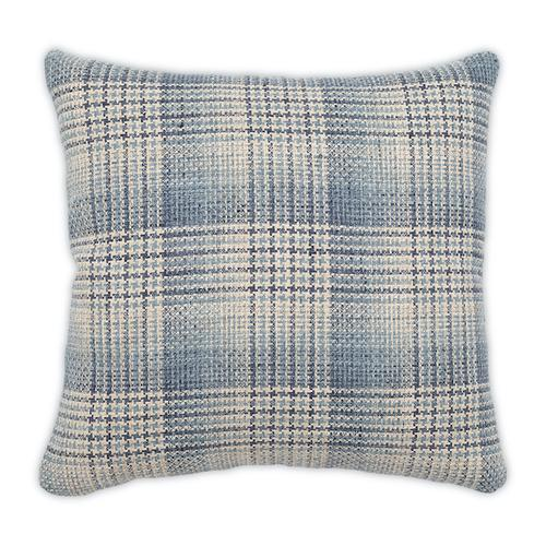 Checked Out Denim 22x22 Pillow