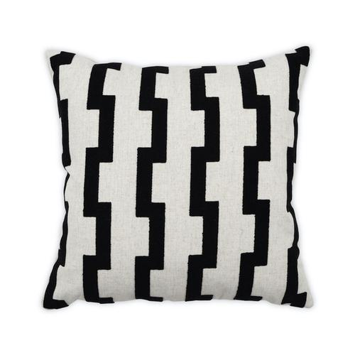 Edgy Black 22x22 Pillow