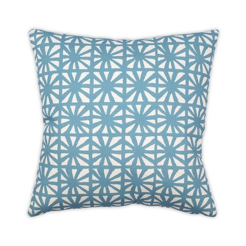 Kaleidoscope Aqua 22x22 Pillow