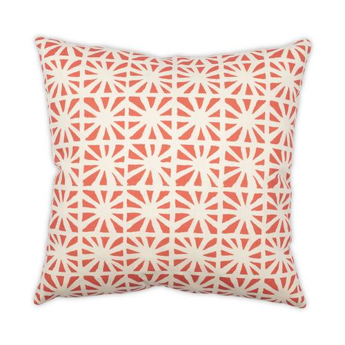 Kaleidoscope Pomegranate 22x22 Pillow