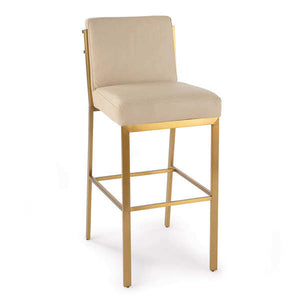 Chantal Leather Bar Stool (Cappuccino)