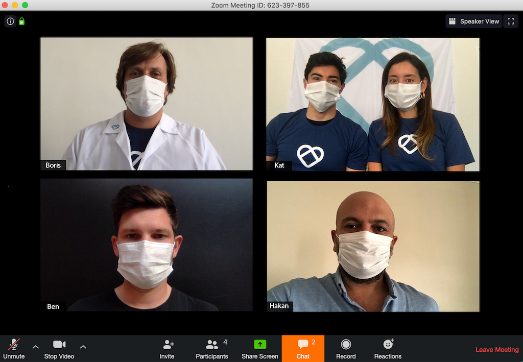 MiMask founding team in remote style!