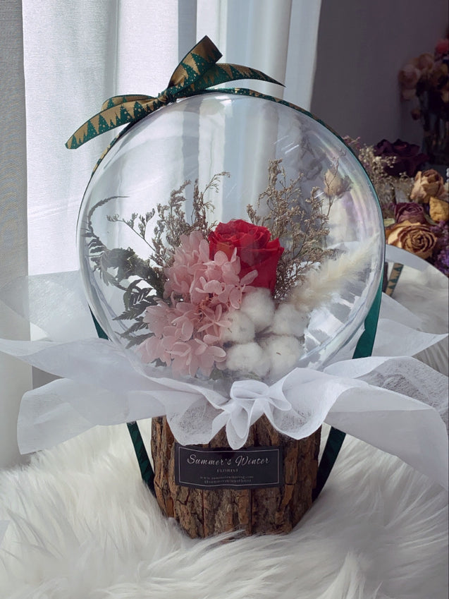 Preserved Rose Crystal Ball