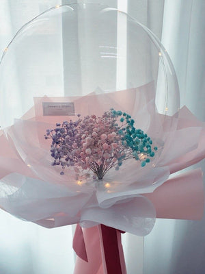 COLOURFUL BABY'S BREATH BALLOON BOUQUET [ LARGE ]