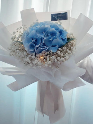 Hydrangea & Baby's Breath Bouquet