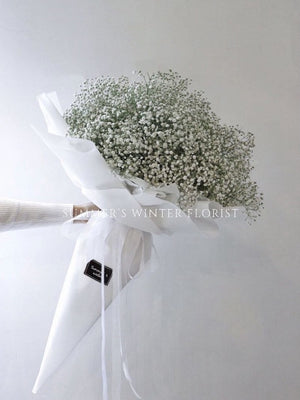 Lovely You [ BABY'S BREATH ] CONE WRAPPED