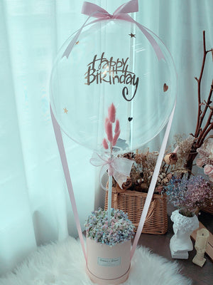 Baby's Breath Balloon Box