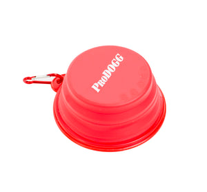 PRODOGG™ RED COLLAPSIBLE WATER BOWL WITH WHITE LOGO 195201
