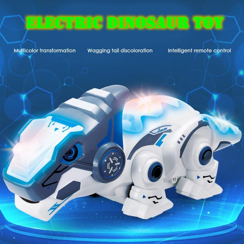 RC Robots Animals Dinosaur Electric Luminous Educational Toys with Sound RC Robot Toy for Boys Children Birthday Gift