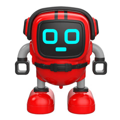 Children Early Education Gyro Robot Multiple Gameplay Robot DIY Inertia Puzzle Robot Toy - Red