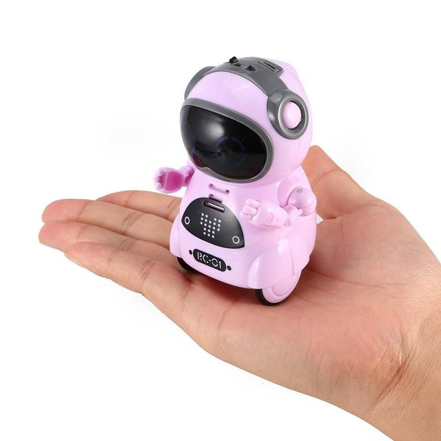 939A Mini Pocket Robot Talking Interactive Dialogue Voice Recognition Record Singing Dancing Telling Story Mini RC Robot Toys Bi