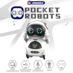 939A Pocket Robot Talking Interactive Dialogue Voice Recognition Record Singing Dancing Telling Story Mini Robot Toy For Baby