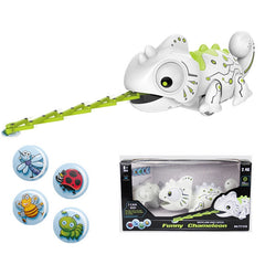 RC Robot Toys Chameleon Pet Changeable Light Electronic Model Animal Intelligent Remote Control Robot Toy for Children