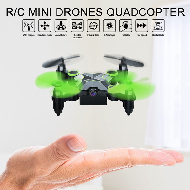 Rc Quadcopter Mini Drones With Cameras HD WiFi Phone Control and Remote Control Support One Key to Return toys for boys