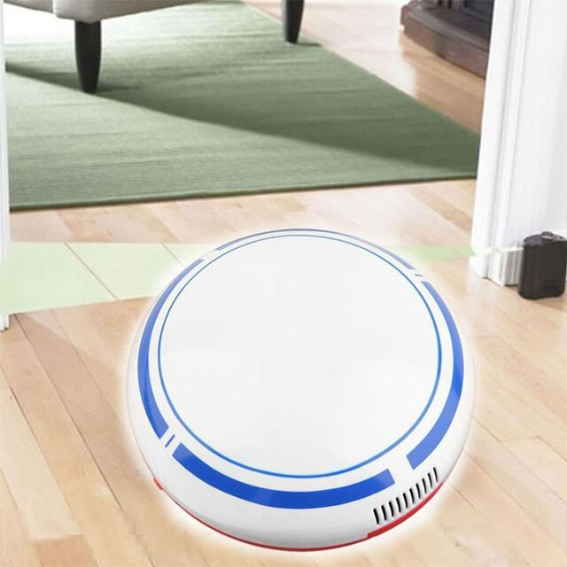 18*6.5CM Floor Cleaning Robot Dry Wet Vacuum Cleaner Creative Smart Vacuum Cleaner Toy White Black Movable Multi-Function