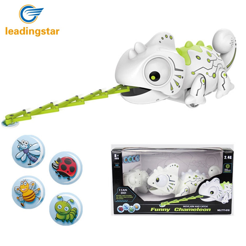 RCtown Remote Control Chameleon 2.4GHz Pet Intelligent Toy Robot For Children Kids Birthday Gift Funny Toy RC Animals