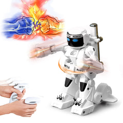 2.4G Somatosensory Remote Control Battle Robot Toy Two-player Competitive Fight Children Robot Model Toy for Kids Christmas Gift