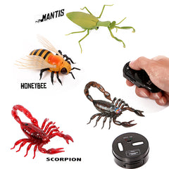 Infrared RC animal Insect Toys  Simulation bee mantis fly Electronic Robot For Kid Halloween Practical joke insects Toys