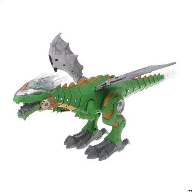 Interactive Dinosaur Dancing Walking Spray Mist Breathing Toy Child Gifts Robot Model DIY Toys