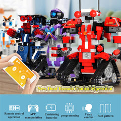2.4GHz 392PCS Remote Control Robot RC Building Block Robot App Controlled Educational RC Robot Toys Construction Set for Kids