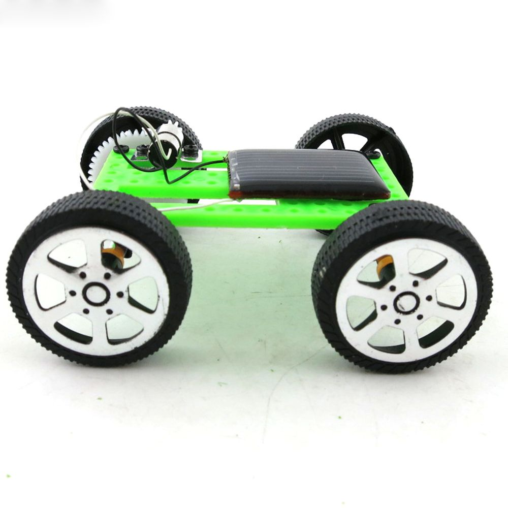 Kids Toys Child 1Pc Mini Solar Energy Toy DIY Assembly Car Children Educational Puzzle IQ Gadget Robot Powered Robot Gadget