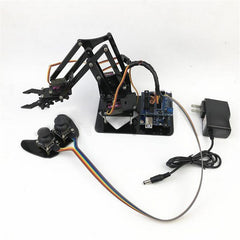 Domibot 4DOF DIY Robot Arm with Remote Control For PS2 Self-Assemble with MG90s Servo for Arduino UN R3 Programming