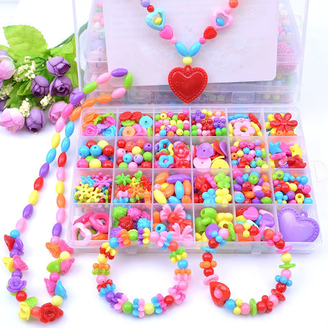 24 grid diy children beaded toy amblyopia corrected beaded educational toys girl gift