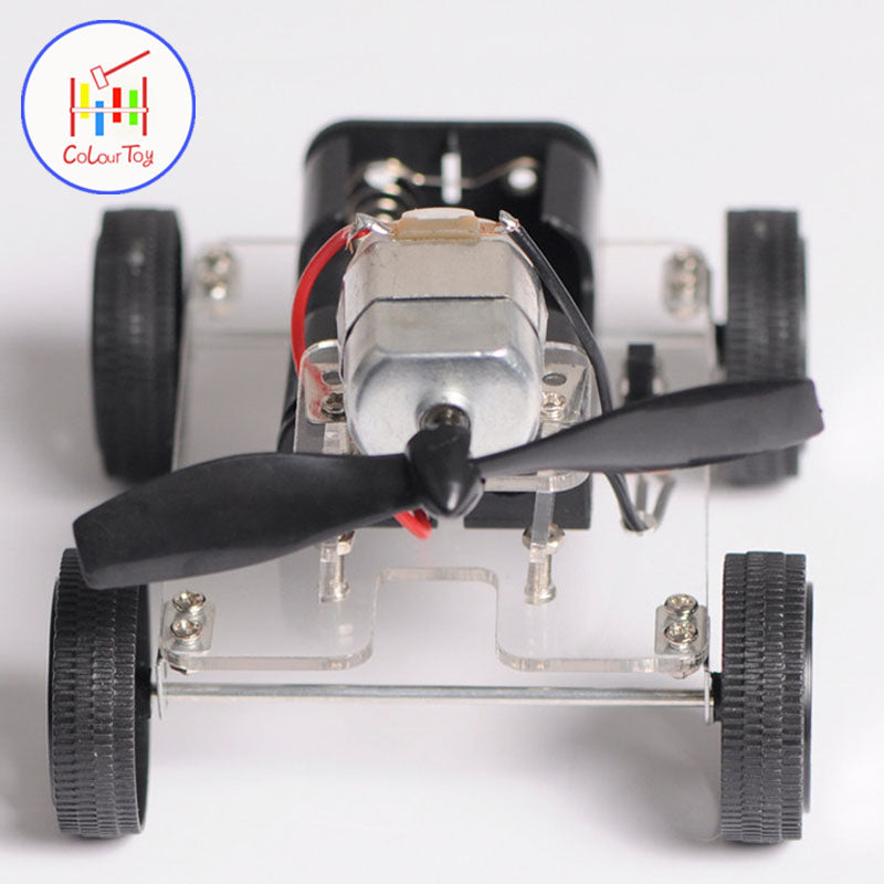 Mini Motor DIY Robot Kit Education Assembly Smart Windmilling Wind Car Kids Toys For 3+ Children Puzzle Battery Birthday Gifts