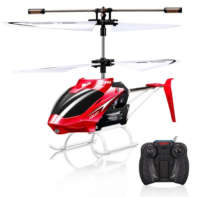 Syma Official W25 RC Helicopter 2 CH 2 Channel Mini RC Drone With Gyro Crash Resistant RC Toys For Boy Kids Gift Red Yellow