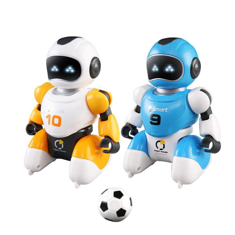 1 Set Smart USB Charging Remote Control Soccer Robot Toy Singing And Dancing Simulation RC Intelligent Football Robots Toys