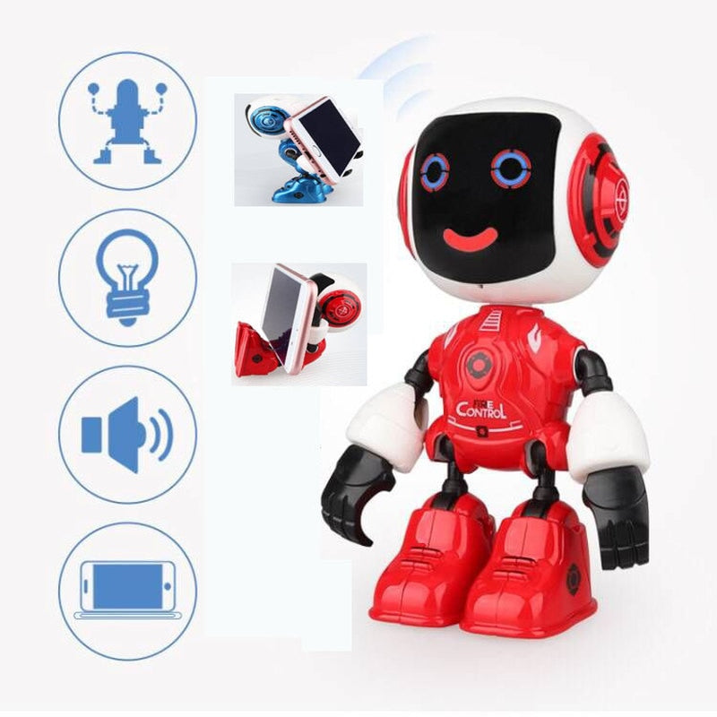 Multi-function MIni Robot Touchable Control DIY Modeling Talk Dance Smart RC Robot Phone Holder Robots Toys for Children Gifts