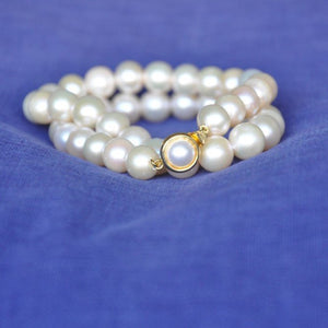 Rose Pearl Necklace (Large Pearls)