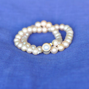 Rose Pearl Necklace (Small Pearls)