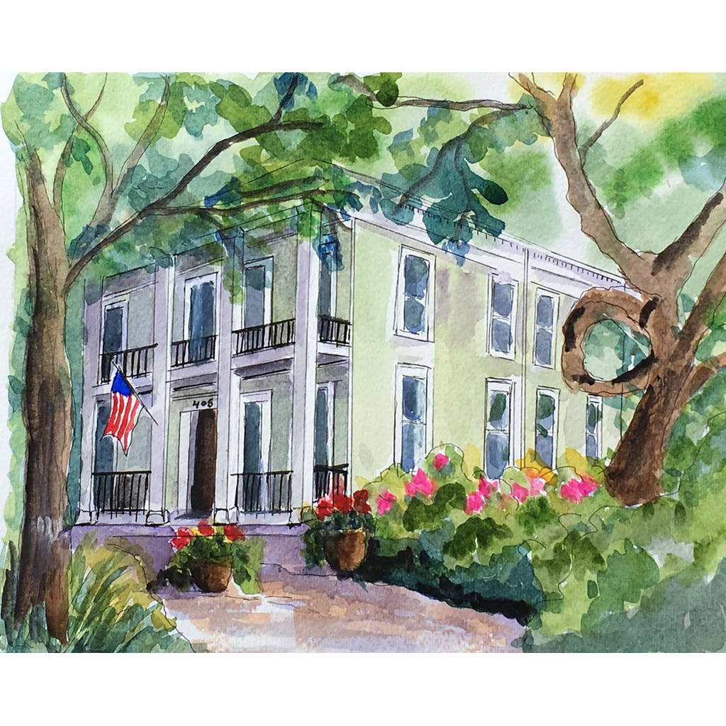 """Nola Bed and Breakfast"" Print - Marina's Watercolors"
