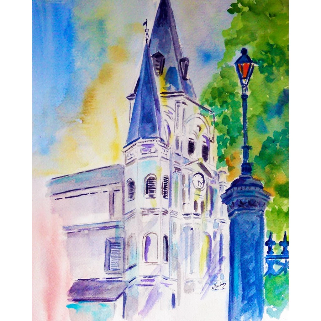 """Cathedral with Light"" Print - Marina's Watercolors"