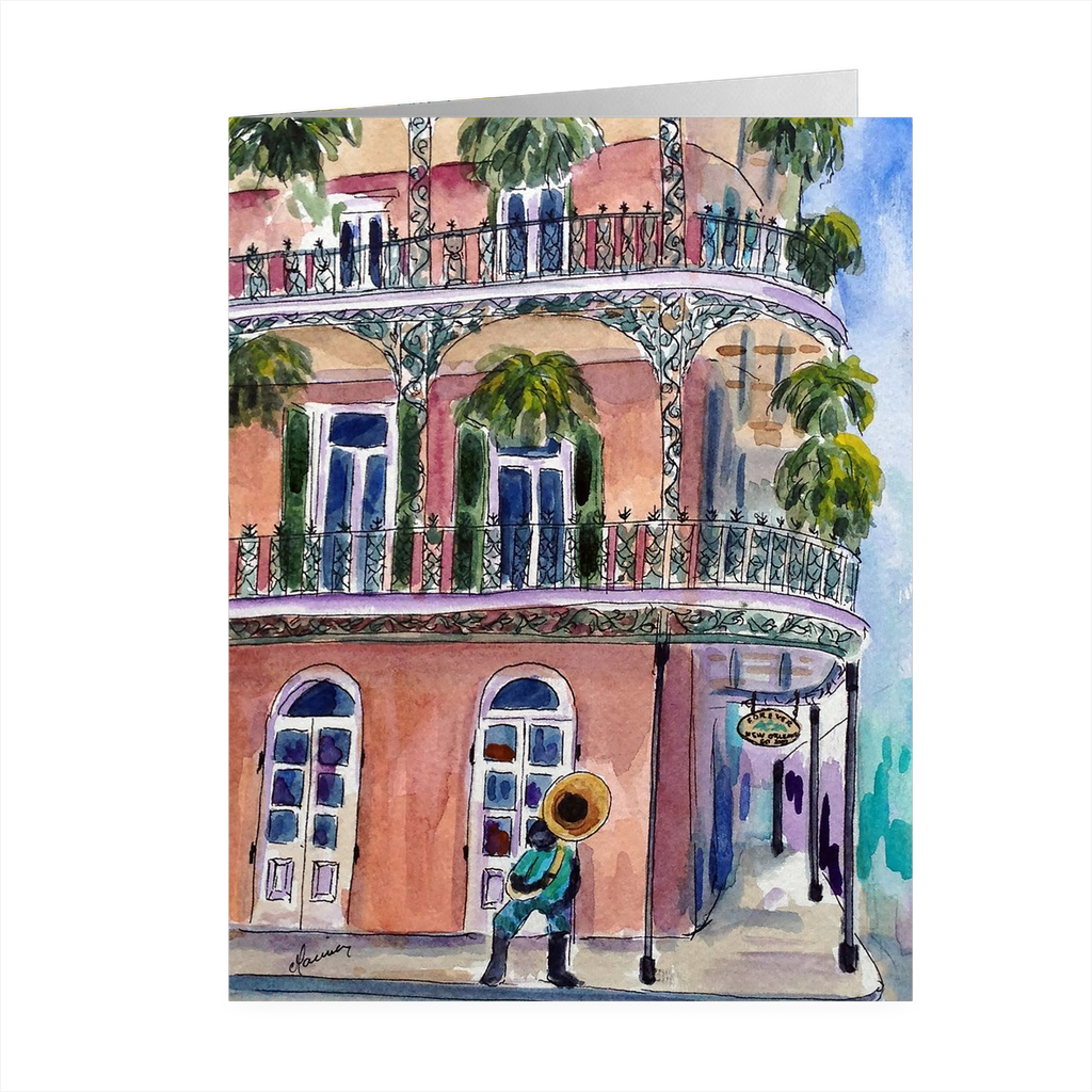 """Forever Nola"" 4.25 x 5.5 Folded Card - Marina's Watercolors"