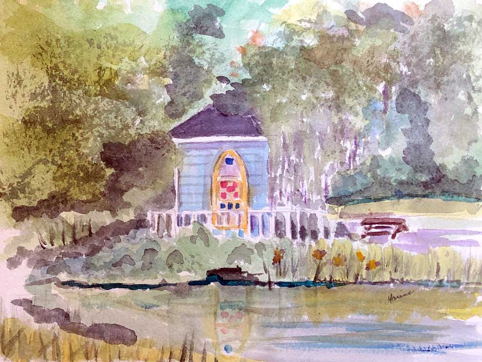 A Cottage in the Woods - Marina's Watercolors