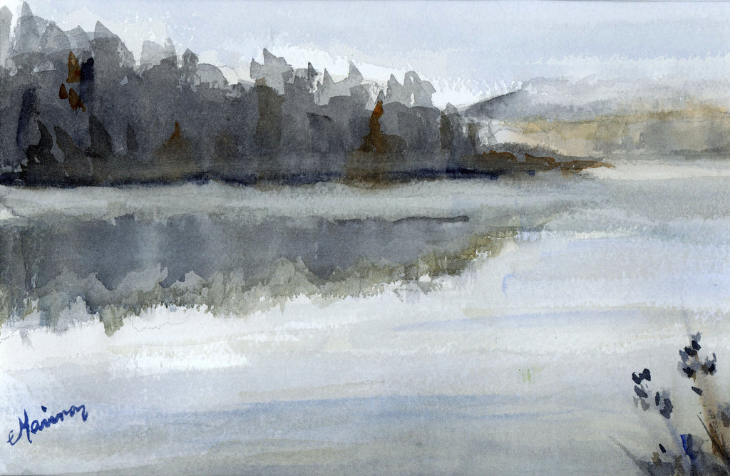 """Foggy Morning"" - Original Watercolor - Marina's Watercolors"