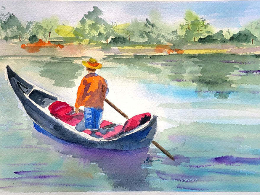 Peaceful ride in City Park - Marina's Watercolors