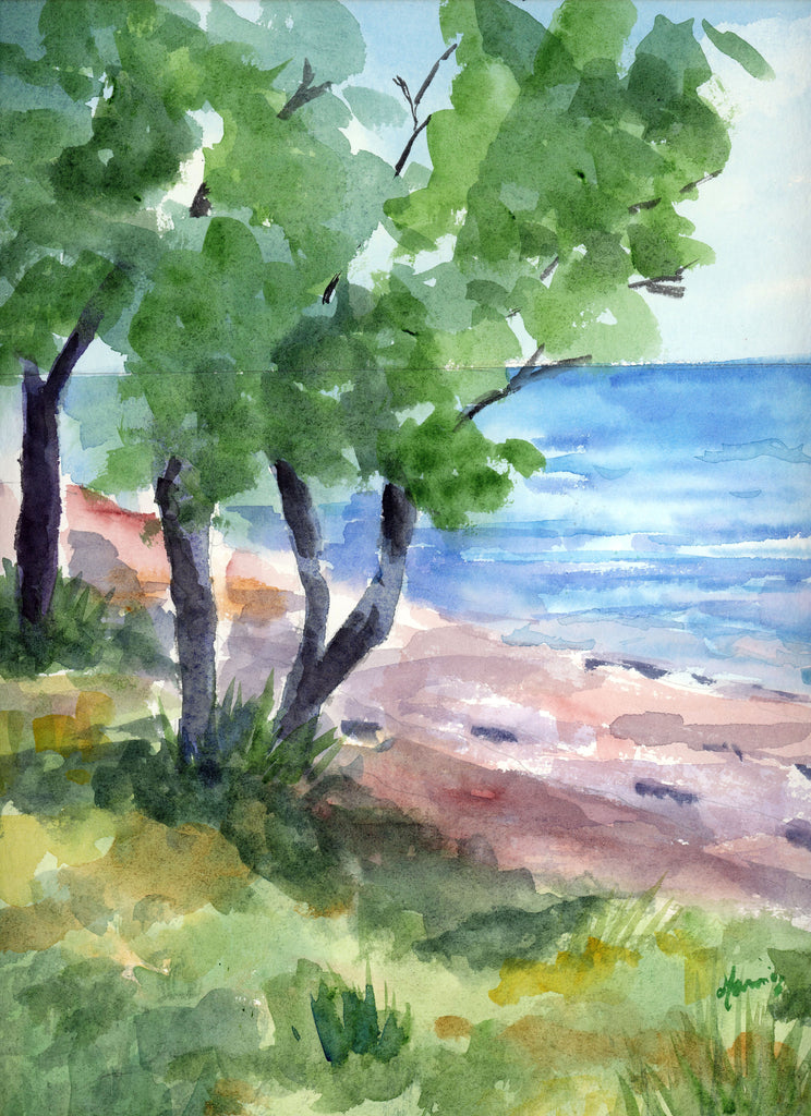 Mobile Bay - Original Watercolor - Marina's Watercolors