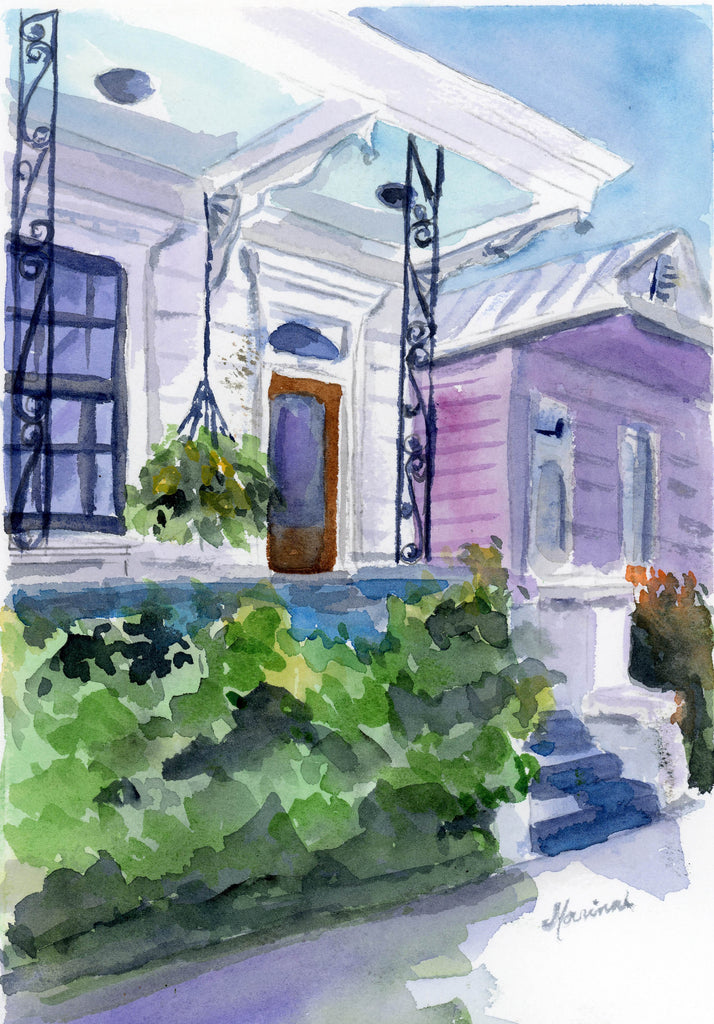 Nola Porches - Marina's Watercolors