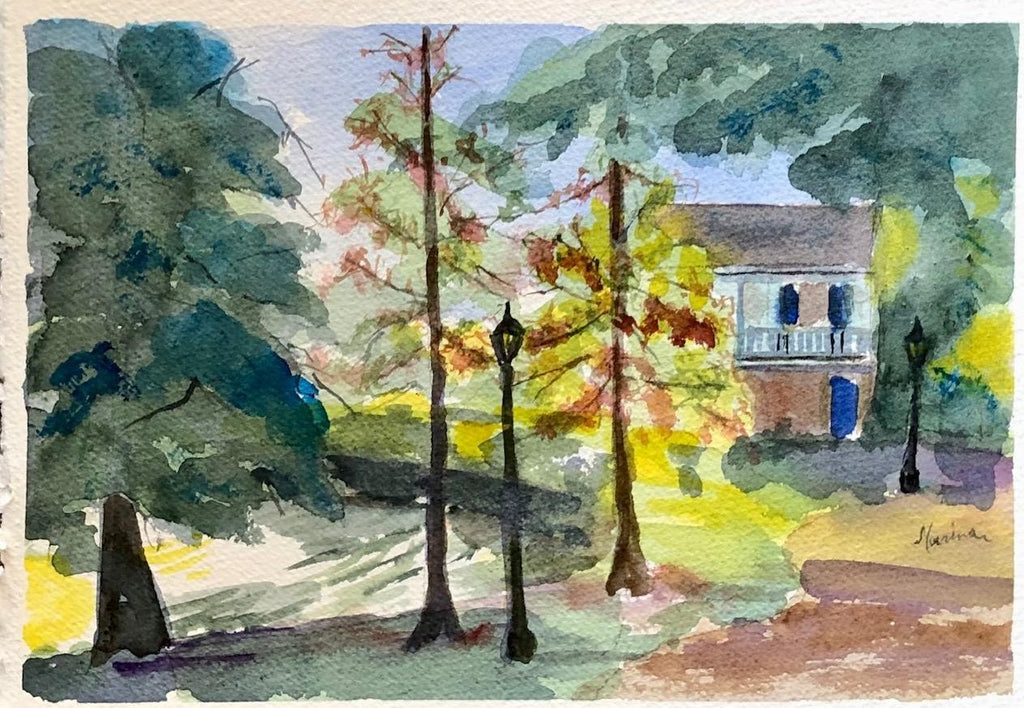 Afternoon at Nottoway - Marina's Watercolors