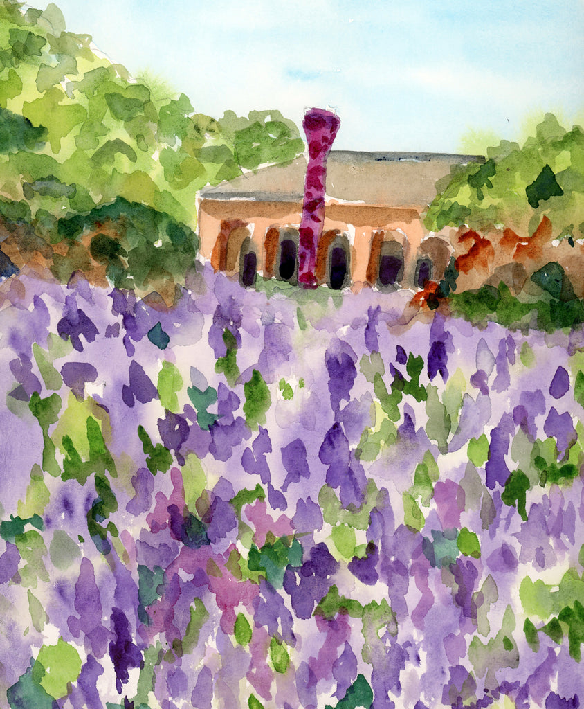 Spring at the Botanical Garden - Original Watercolor - Marina's Watercolors