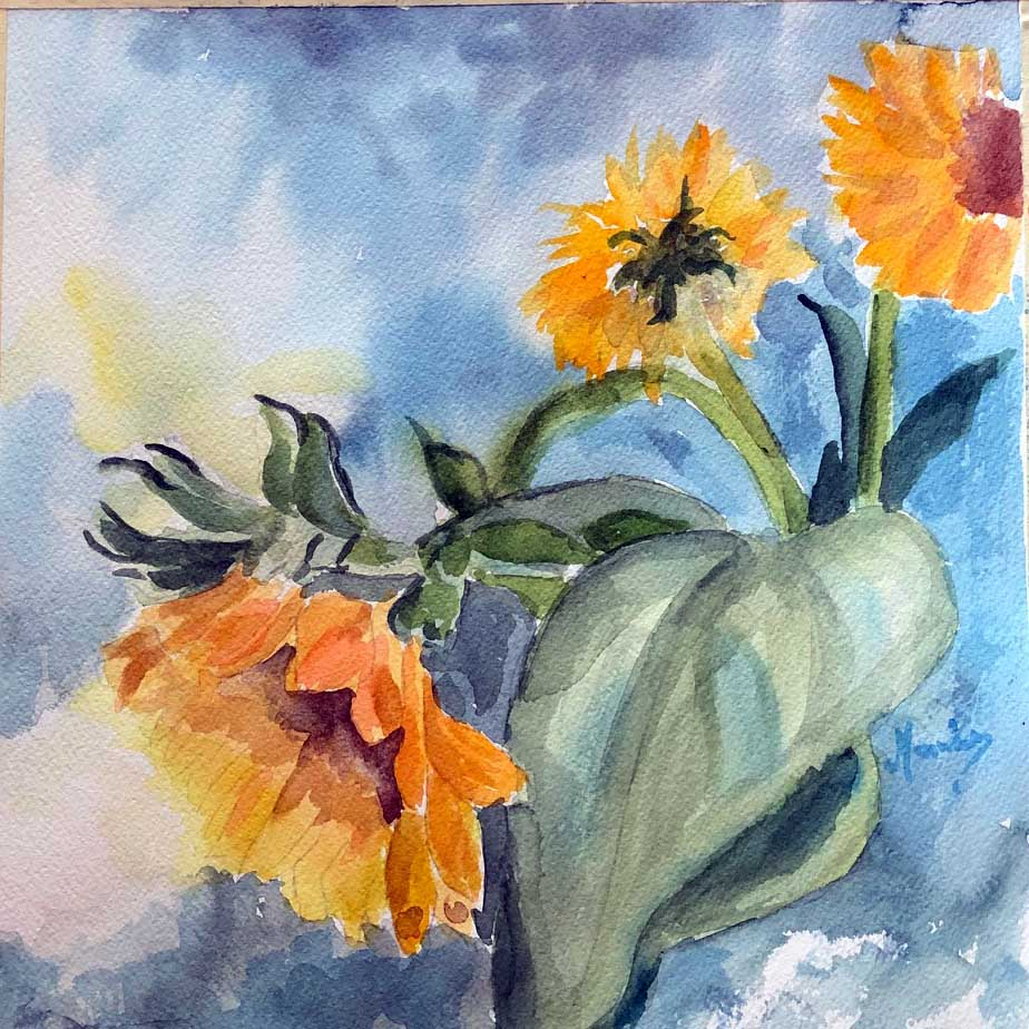 Sunflowers - Marina's Watercolors