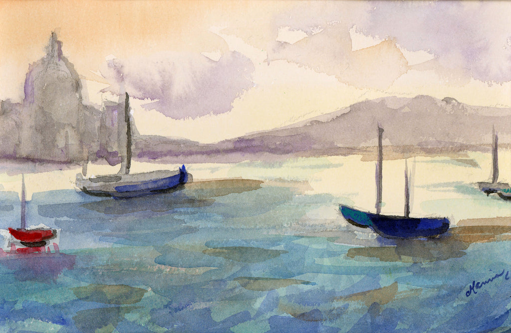 """The Harbour"" - Original Watercolor - Marina's Watercolors"