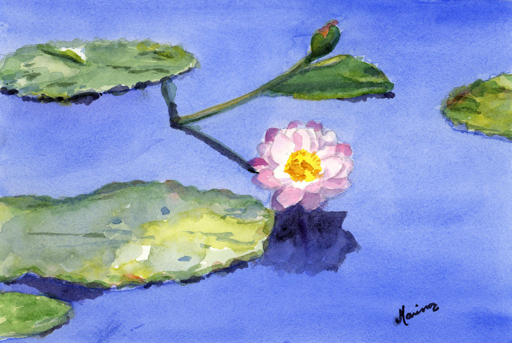 """Water Lily"" - Original Watercolor - Marina's Watercolors"
