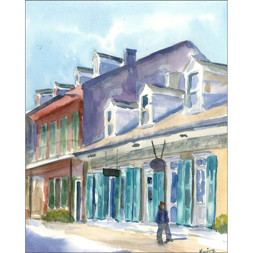 """Early Morning on Royal Street"" Giclee Art Prints - Marina's Watercolors"