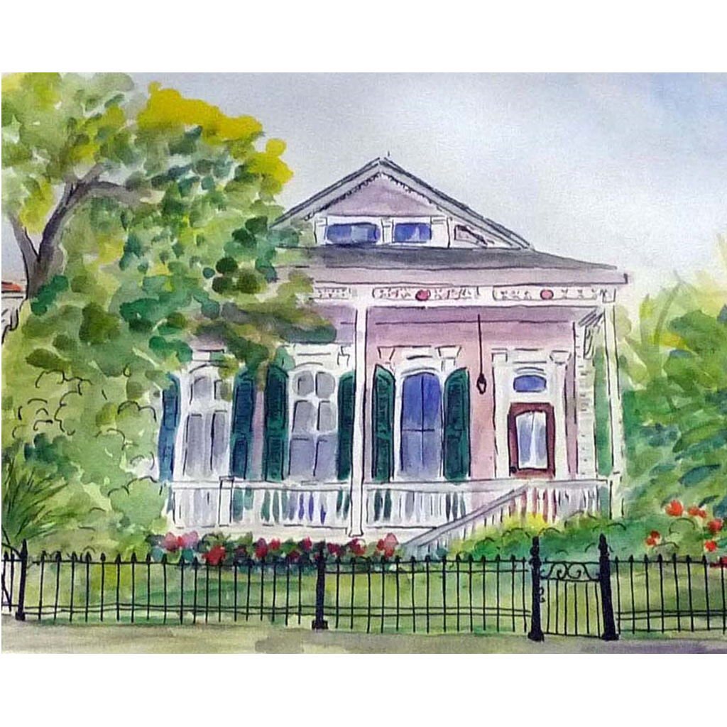 """New Orleans Shotgun"" Print - Marina's Watercolors"