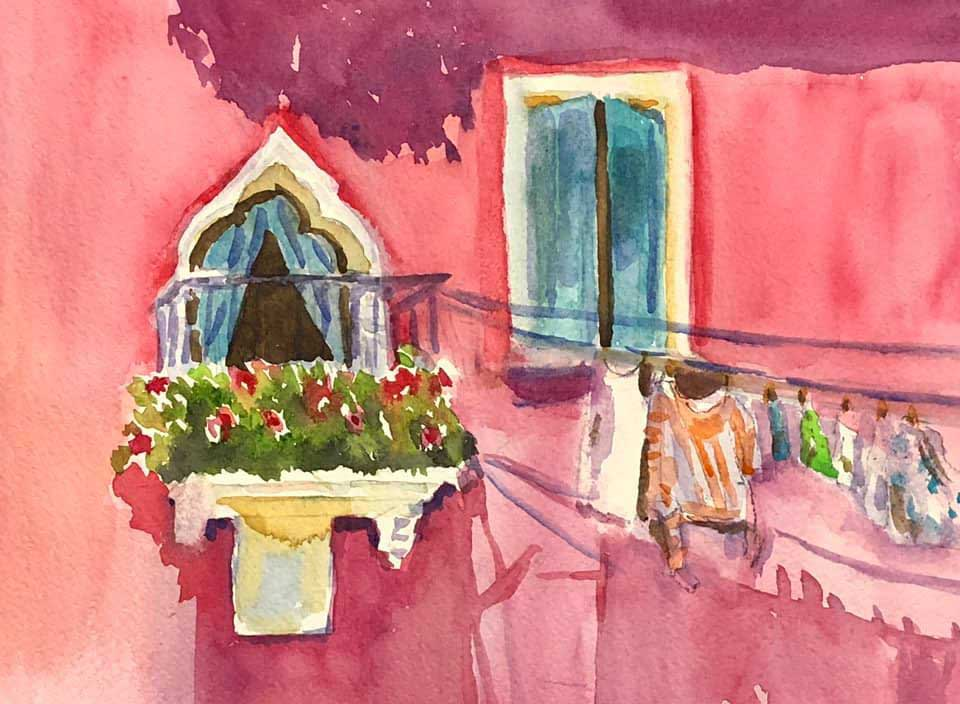 Colorful Burano - Marina's Watercolors
