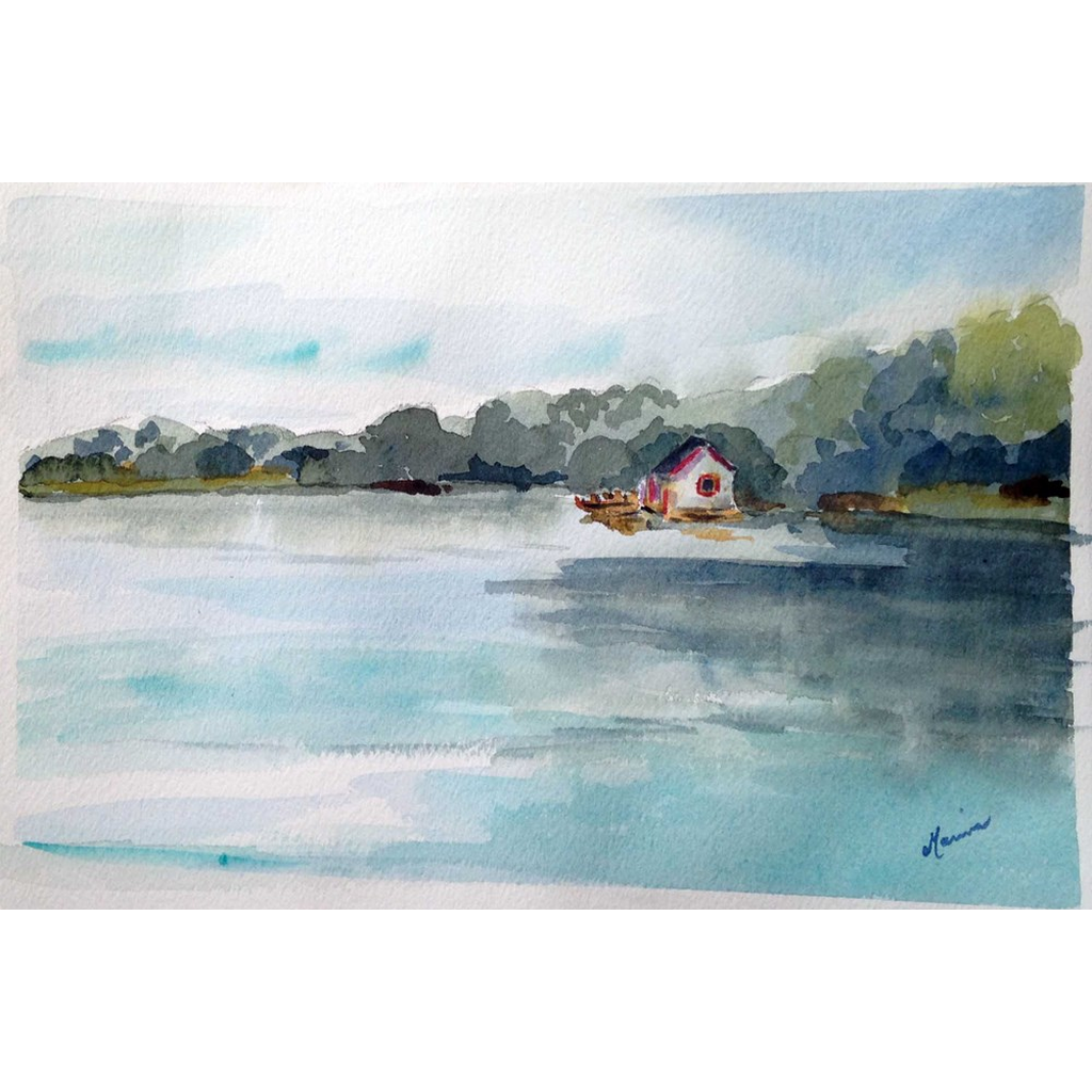 """City Park Lagoon"" Print - Marina's Watercolors"